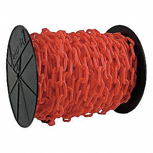 CHAIN PLASTIC #6 RED REEL 1.5 X 200