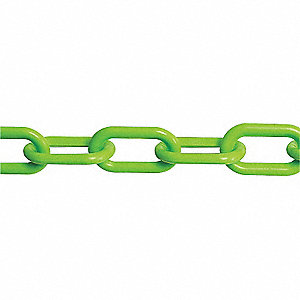 CHAIN PLASTIC #8 GREEN 2IN X 100FT