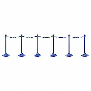 STANCHION CHAIN KIT L D BLUE