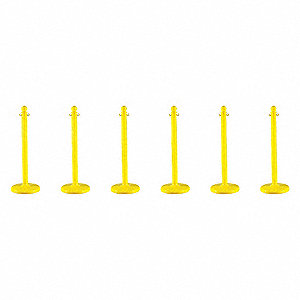 STANCHION MEDIUM DUTY YELLOW 6 PACK