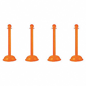 STANCHION HEAVY DUTY ORANGE 4 PACK