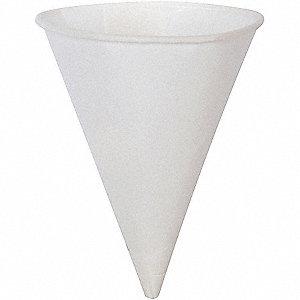 CUP CONE 4OZ PPR ROLLD BRIM 25/200W