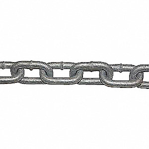 CHAIN GALV HOT DIP GR30 1/4IN