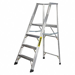 LADDER ALUM XW 4FT PLATFORM TYPE1A