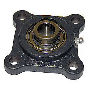 "4-Bolt Flange Bearing with Ball Bearing Insert and 1-3/16"" Bore Dia."