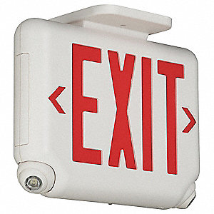 Exit Sign w/Emergency Lights,1.65W,Red