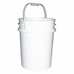PAIL WHITE PLASTIC 20L