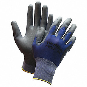 Coated Gloves,XL,Gray/Blue,PR
