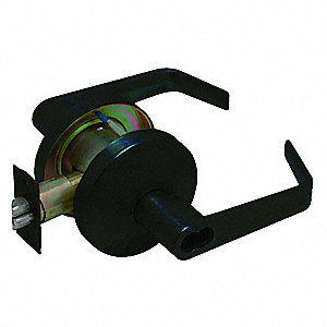 "Lever,  Mechanical,  Medium Duty,  Not Keyed,  Oil Rubbed Bronze,  2-3/4"" Backset,  Cylindrical"