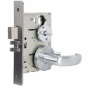 Lever Lockset,Mechanical,Privacy,Grd. 1