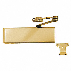 Manual Hydraulic LCN 4031-Series Door Closer, Heavy Duty Interior and Exterior, Brass