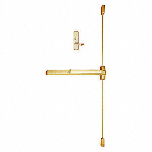 Exit Device, Series 99, Satin Bronze, Surface Vertical Rod