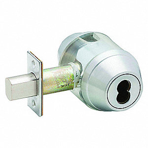 Heavy-Duty Satin Chrome B600-Series Deadbolt, 6 Pin-Cylinder, Different