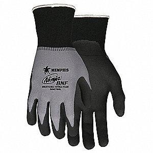 15 Gauge Foam Nitrile Coated Gloves, Glove Size: 2XL, Gray/Black