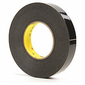 "Masking Tape, 60 yd. x 1"", Black, 9.8 mil, Package Quantity 36"