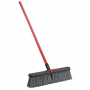 "Broom w/Handle and Locking Nut,18"" Block"