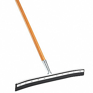 "Floor Squeegee Set,Black,24""L"