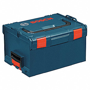Stackable Storage Box,Blue,10x17-1/2x14