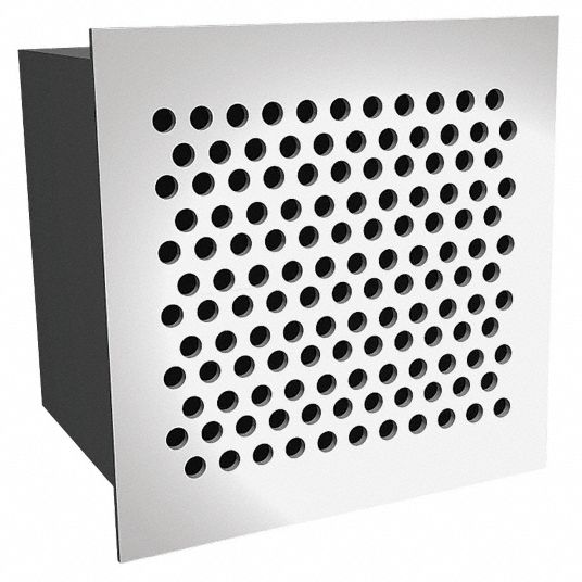 Security Return Air Grille,  Perforated Face,  White,  10 in Max. Duct Height (In.)