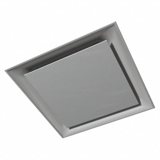 Ceiling Diffuser,  Square Plaque,  10 in Diffuser Duct Size,  Square,  3 1/2 in Depth,  White