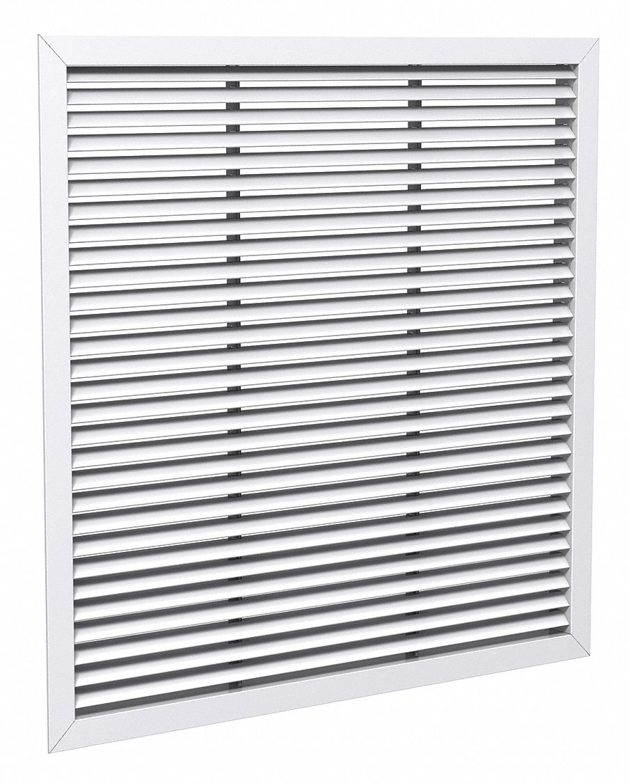 Lay-In Mount Return Air Grille,  Steel,  White,  22 in Max. Duct Height (In.)