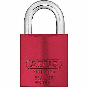 PADLOCK TITALIUM 83AL,45MM,RED-KD