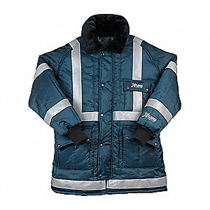 Reflective Coat,Insulated,Navy,L