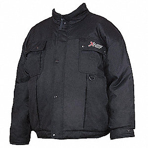 Bomber Jacket,Insulated,Black,S