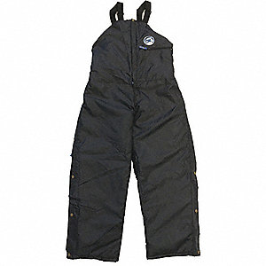 "Men's Bib Overalls, Lining Material: Nylon, Inseam: 32"", Fits Waist Size: 44 to 46"", Black"