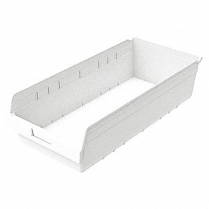 SHELF BIN 6 IN D WHITE