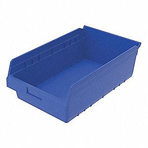 SHELF BIN 6 IN D BLUE