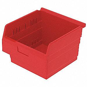 SHELF BIN 11-5/8 X 11-1/8 X 8 RED