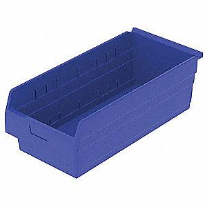 SHELF BIN 23-5/8 X 11-1/8 X 8 BLUE