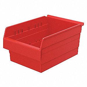 SHELF BIN 15-5/8 X 11-1/8 X 8 RED