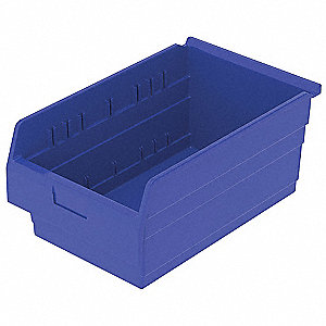 SHELF BIN 17-5/8 X 11-1/8 X 8 BLUE