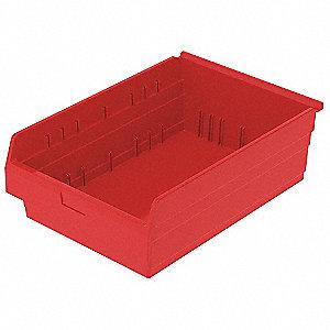 SHELF BIN 23-5/8 X 18 X 8 RED