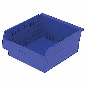 SHELF BIN 17-5/8 X 18 X 8 BLUE