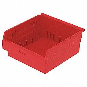 SHELF BIN 17-5/8 X 18 X 8 RED