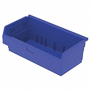 SHELF BIN 11-5/8 X 24 X 8 BLUE
