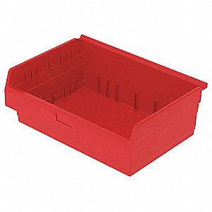 SHELF BIN 15-5/8 X 24 X 8 RED