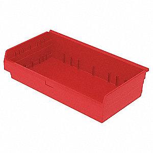 SHELF BIN 17-5/8 X 33 X 8 RED