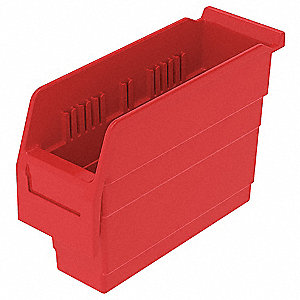 SHELF BIN 11-5/8 X 4-1/8 X 8 RED