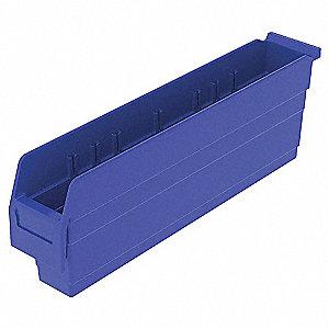 SHELF BIN 23-5/8 X 4-1/8 X 8 BLUE