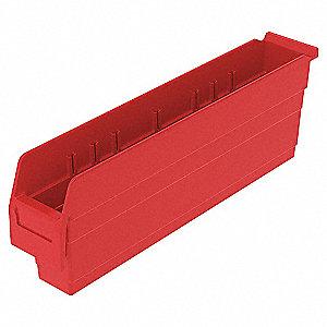 SHELF BIN 23-5/8 X 4-1/8 X 8 RED