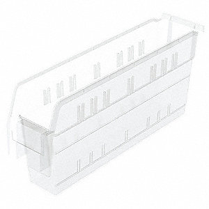 SHELF BIN 17-5/8 X 4-1/8 X 8 CLEAR