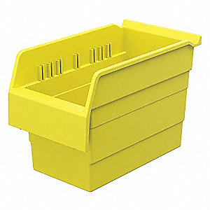SHELF BIN 11-5/8 X 6-5/8 X 8 YELLOW