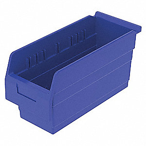 SHELF BIN 15-5/8 X 6-5/8 X 8 BLUE