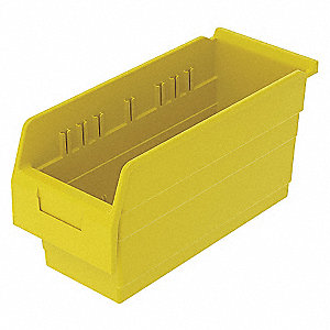 SHELF BIN 15-5/8 X 6-5/8 X 8 YELLOW