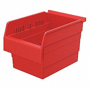 SHELF BIN 11-5/8 X 8 281 X 8 RED