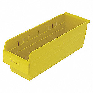SHELF BIN 23-5/8 X 8 281 X 8 YELLOW